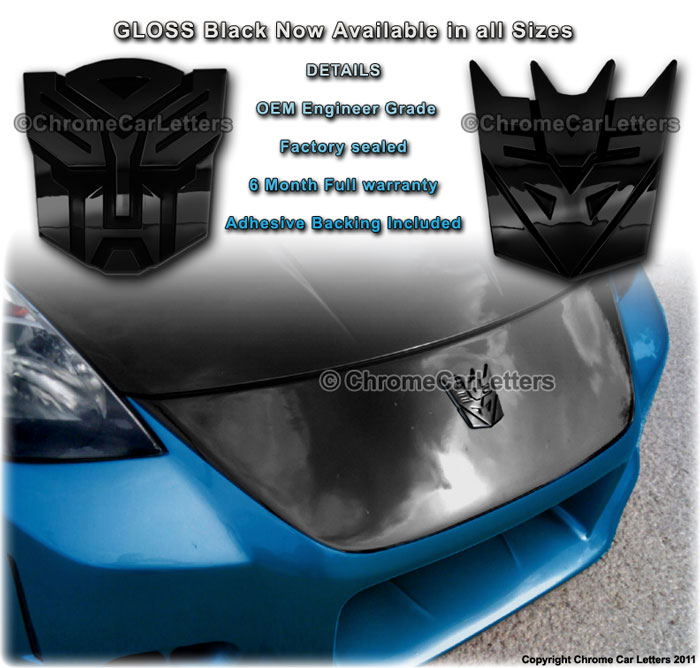 Transformers Autobot And Decepticon 3d Chrome Badge Emblem For Your